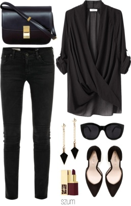 Another reasonable easy outfit - jeans, shirt & accessories