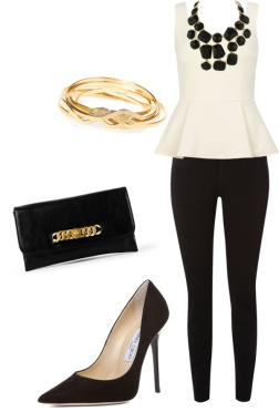 Dressing it up - using the shoes and jeans / pants from night before but different top and accessories