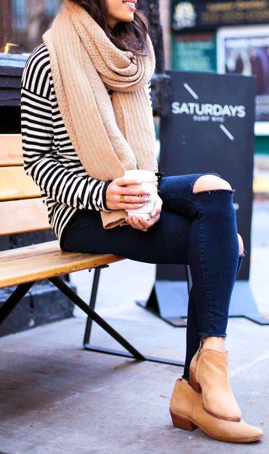 Image result for skinny jeans ankle boots cardigan plus size