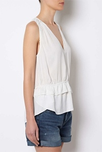 white whitchery blouse